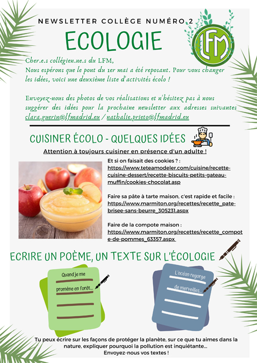 Newsletter ecologie 2 1