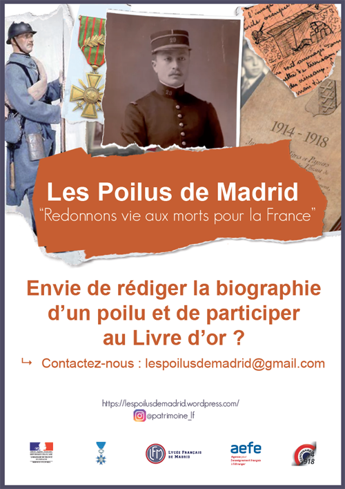 Affiche Poilus biographies
